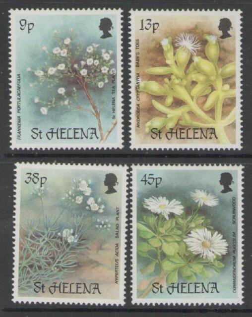 ST.HELENA SG505/8 1987 RARE PLANTS MNH