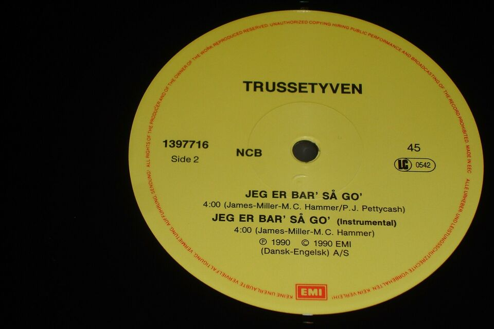 "Maxi-single 12"", Trussetyven, Jeg Er Bar' Så Go'"