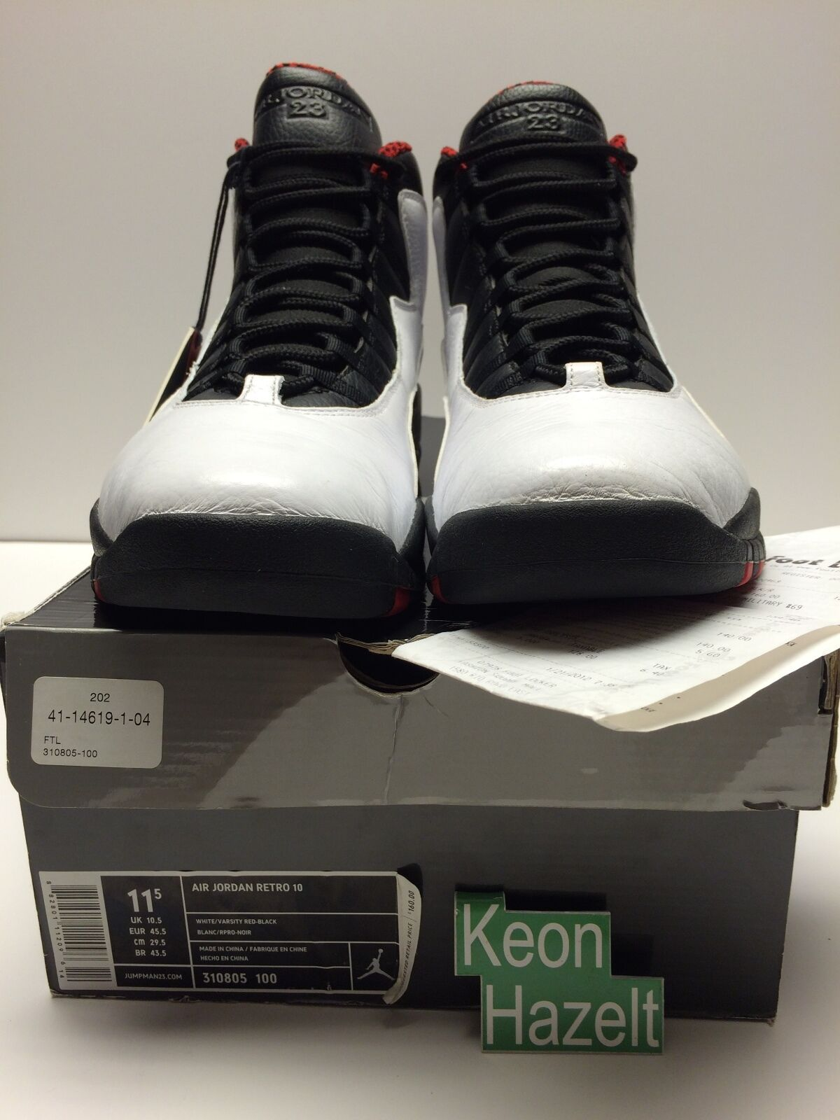 nike air jordan 10 x retro - chicago zement 11,5 schwarzer stahl - sz 11,5 zement vnds gezüchtet. b64602