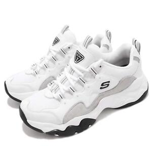Details zu Skechers D Lites 3 White Light Grey Men Casual Chunky Shoes Sneakers 999878 WLGY