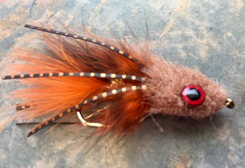 Truite CRAVEN gonga Streamer Fly taille #2 Bass pondérée Chabot Rouille
