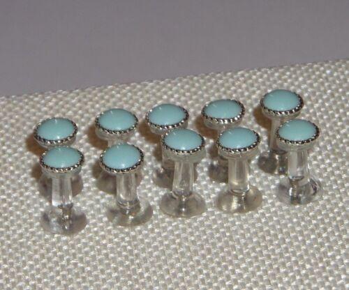 10 baby blue thumb tacks Memory Board Office School Decor Decorative push pin