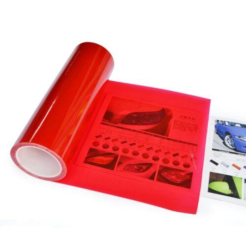 Scheinwerfer Folie Tönungsfolie Nebelscheinwerfer Rot 30 cm x 10 Meter
