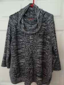 a2cd2958c741 NEW DIRECTIONS LADIES SIZE XL GRAY OVERSIZE SWEATER-COWL NECKLINE ...