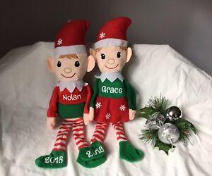 Personalized Elf Toy Elf Plush With Name Custom Stuffed Animal Toy