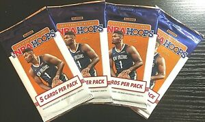 2019-20-NBA-Hoops-pack-Zion-RC-Yellow-Parallel-HOT-LOT-OF-4-PACKS