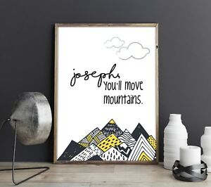 Kid Youll Move Mountains Dr Seuss Quote Custom Personalised Kids
