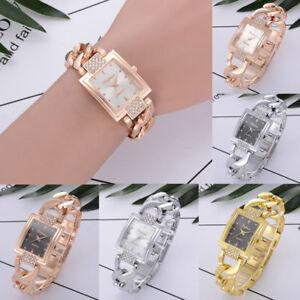 deac2e56e162 La imagen se está cargando Mujer-Cristal-Reloj-Acero-Inoxidable-para-Dama -de-