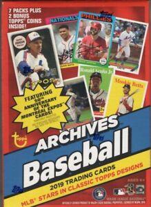 2019-Topps-Archives-MLB-Baseball-Cards-Blaster-Box-2-Bonus-Topps-Coins-Inside