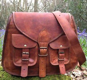 New-Vintage-Womens-Genuine-Real-Leather-Handbag-Shoulder-Bag-Satchel-Messenger