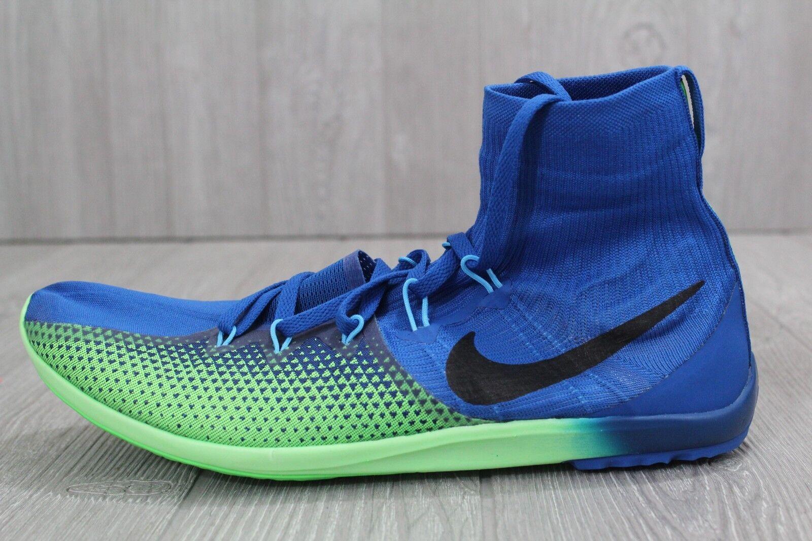 28 Nike Zoom Victory XC 4 Track Field Spikes bluee Green 878804-403 8 10.5 12