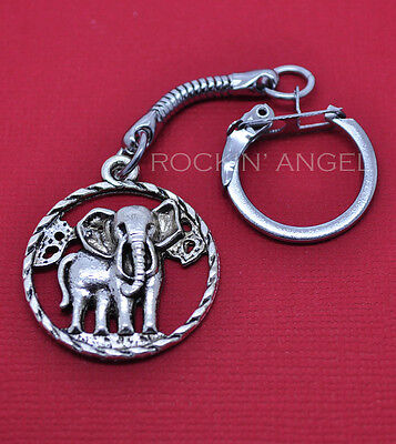 Antique Silver or Gold Plated Vintage Elephant Zoo Animal Ring in Gift Bag//Box