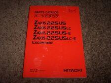 Hitachi Excavator Zaxis 225US 225USLC 225US-E 225USLC-E Parts Catalog Manual