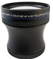 4.5x Super Telephoto Hd Lens Sony Hx300 Dsc-hx300v Dschx300 Hx400 Dschx400 Ring