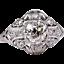 3Ct-Round-Diamond-Vintage-Art-Deco-Filigree-Engagement-Ring-14K-White-Gold-Over thumbnail 3