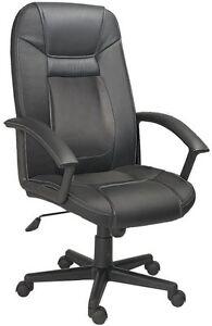 Silla de oficina giratoria sillon despacho escritorio estudio con brazos Negro