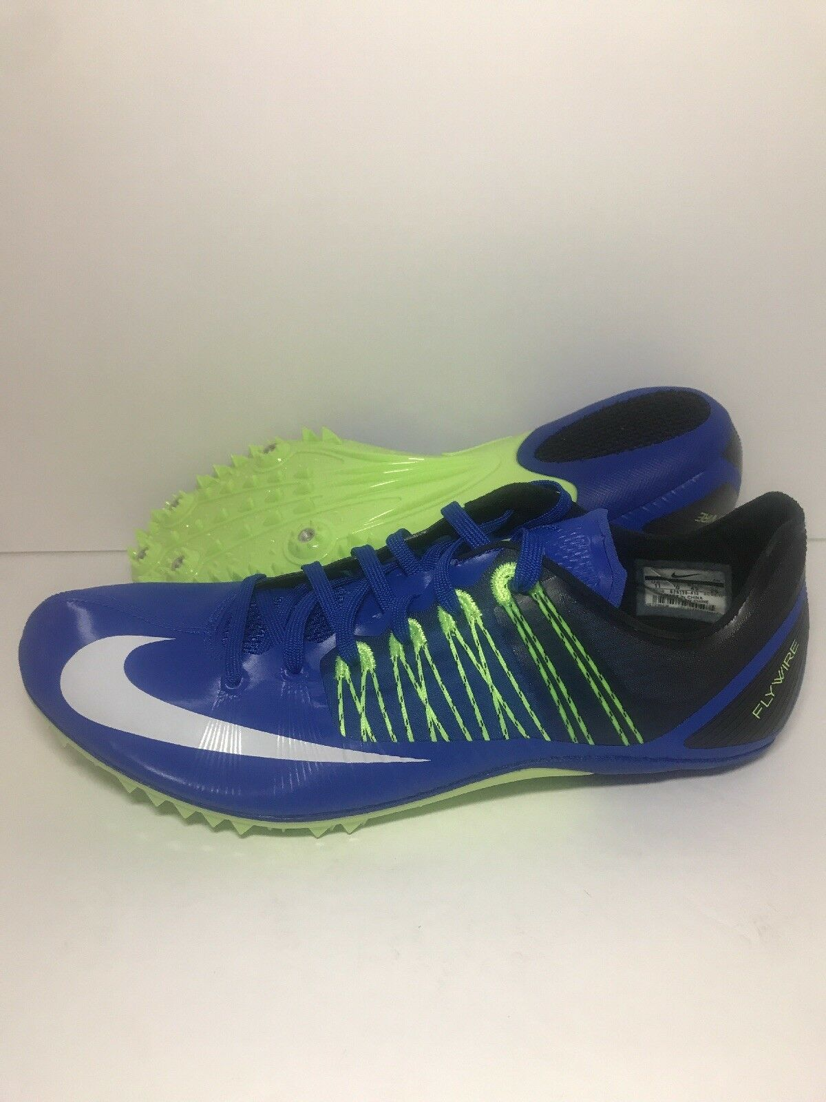 3894c04a2d0 Nike Zoom Celar 5 5 5 Track Sprint Racing Blue Green 629226-413 Mens 10.5  Men s Big Size Breath Running Hiking Shoes ...