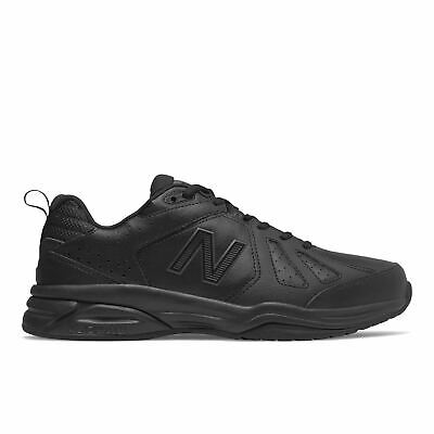 New Balance Mens Extra Extra Wide Fit (6E) Leather Sneakers (624) in All Black   eBay