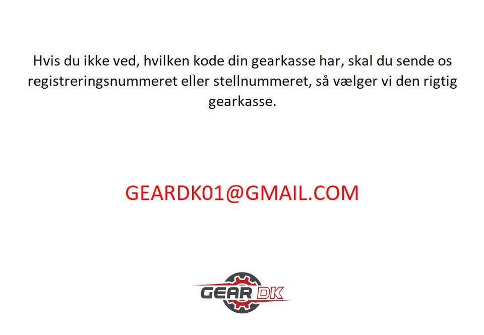 Gearkasse AUDI A3 SKODA OCTAVIA 1.6 FSi GVY