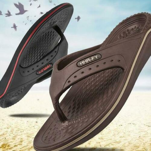 2019 Men/'s Flip Flops Beach Casual Soft Sandals Outdoor Pool Slippers Flat Shoes