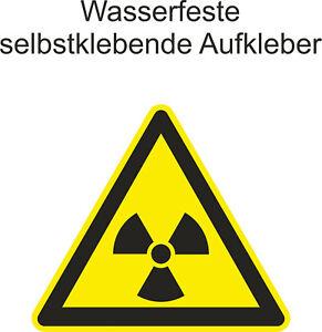 Hinweisaufkleber-Warnung-vor-radioaktiven-Stoffen-Gefahr-Sticker-ab-5cm-Uv-fest