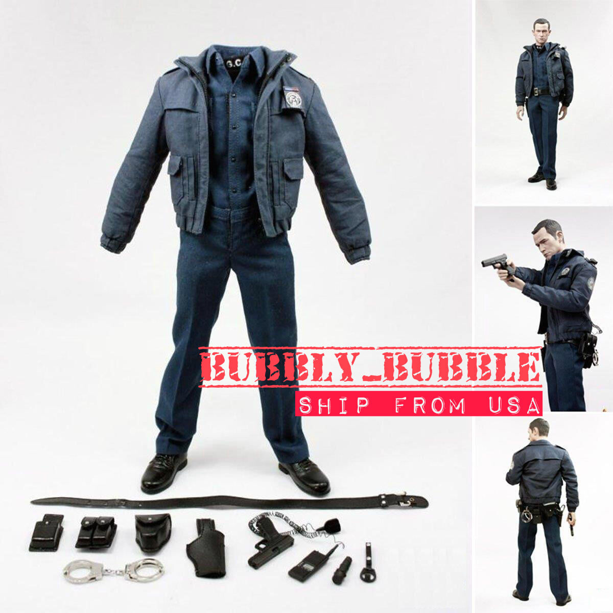 1/6 Batman Robin Police officer Uniform Set For Hot Toys TTM21   SHIP FROM USA