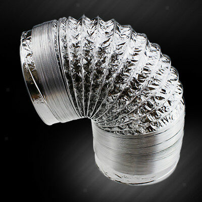 Aluminum Duct Hose Ventilation Air Pipe Exhaust Inline Fan Filter 10cm-2m