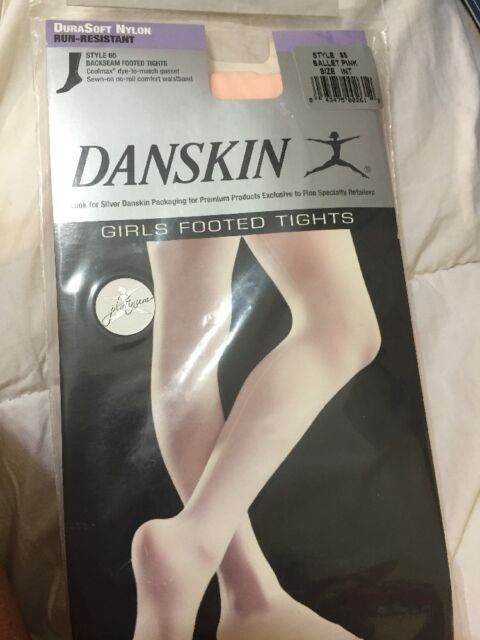 19ce6f881cf80 Danskin 65 Child Footed Dance Tights W/ Backseam Ballet Pink BPK INT ...