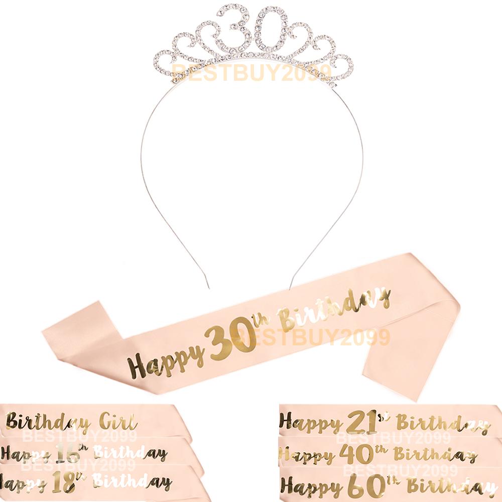 Rose Gold 18th Birthday Sash One Size