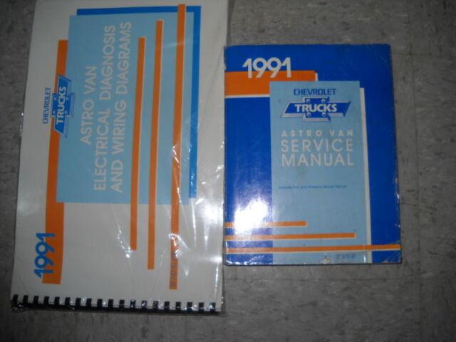 1991 91 Chevy Astro Van Service Repair Shop Manual Set Oem