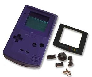 Game-Boy-Gameboy-Color-GBC-Purple-Shell-Case-Housing-w-Screen-amp-Tools-UK