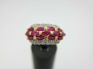 Estate-14k-Yellow-Gold-Red-Marquise-Ruby-Cocktail-Ring