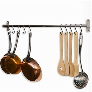 Image Is Loading Pot And Pan Organizer Wall Mount Rack Rail