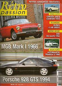 Retro Passion 193 Mgb 1966 Porsche 928 Gts Citroen Ami 8 Autobianchi Primula 68 Pure Blancheur