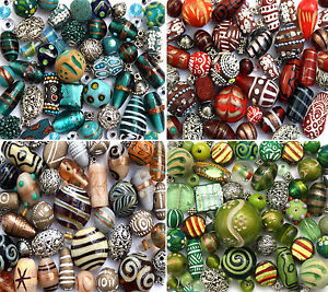 150g-Luxury-mixed-lot-of-Glass-Tibetan-Wood-Jewellery-Making-Beads