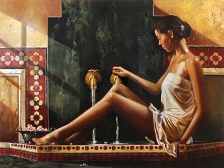 Ron Di Scenza  Cleansing Spirit terminé-image 60x80 La Fresque Fille Femme