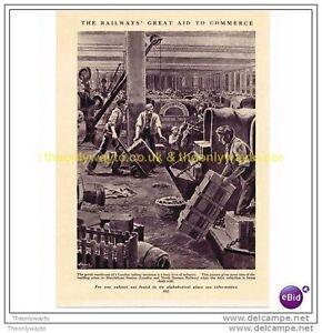 MARYLEBONE-STATION-LONDON-c1920-BOOK-ILLUSTRATION-PRINT