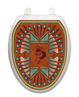 Toilet Tattoos Kokapelli Native Brown Bathroom Seat Decoration Vinyl Removable