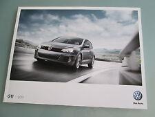 2011 VW Golf GTI Brochure Volkswagen GTI SR NAV Autobahn Sales Catalog Prospekt