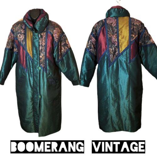 Vintage 1980's J Gallery Down Coat Full Length Tap