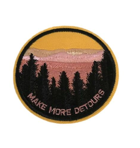 Make More Detours Cosplay Biker Steampunk Adventure Iron On Patch
