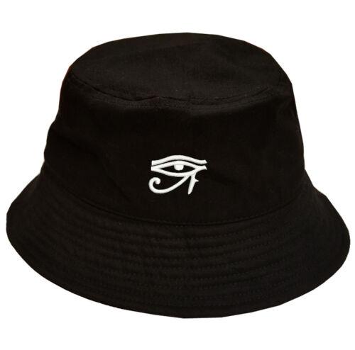 Eye of RA Horus symbol 100/% Cotton Bucket Cap Hat Black OSFM