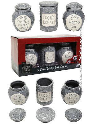 Disney Nightmare Before Christmas 3PC Potion Ceramic Jar Trinket Box Gift Set