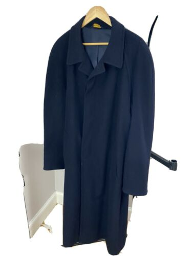 Brooks Brothers Navy Wool Trench Coat