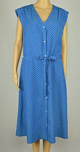 Détails sur Tommy Hilfiger Femmes Bleu Blanche à Pois Imprimé avec Ceinture Robe Chemise XL