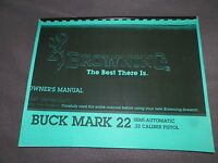Browning, Buckmark 22, Operating & Instruction Manual, 17 Pages