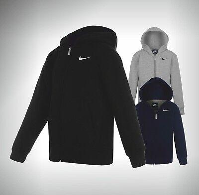 Ordinato Ragazzi Junior Nike Zip Completa Felpa Con Cappuccio Marca Top Con Cappuccio Età 7 8 9 10 11 12 13 Anni-mostra Il Titolo Originale Ottima Qualità