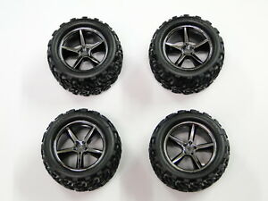 NEW-TRAXXAS-1-16-E-REVO-Wheels-amp-Tires-VXL-RE15