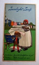Vintage Trade Card for Sunlight Soap w/ Black Mammy  Lever Brothers Company