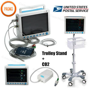Details about USA Fedex ICU Patient Monitor CO2 Vital Signs Monitor 6  Parameters+ETCO2+Stand